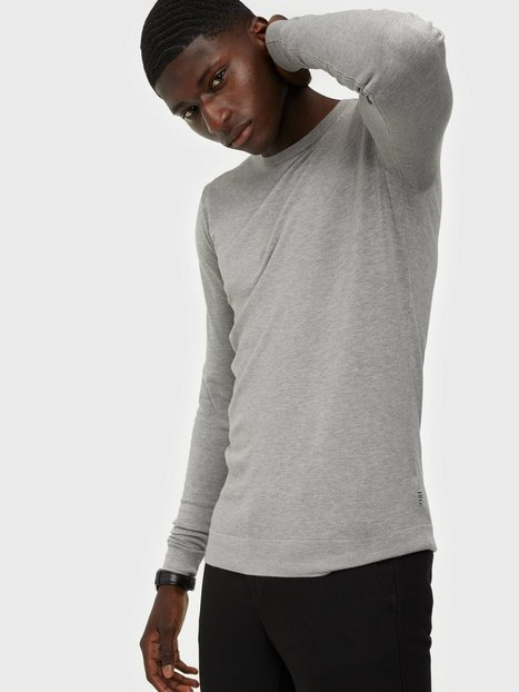 Tailored Originals Knit - Mont O neck Trøjer Light Grey Melange