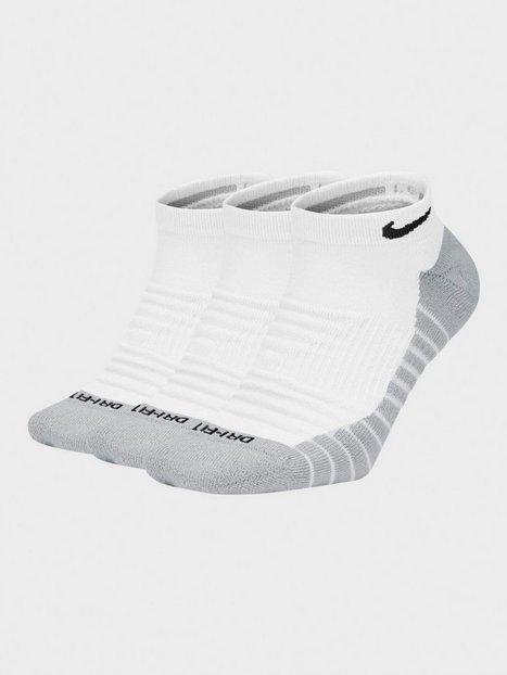 Nike U Nk Evry Max Cush Ns 3PR Træningsstrømper White/Grey/Black