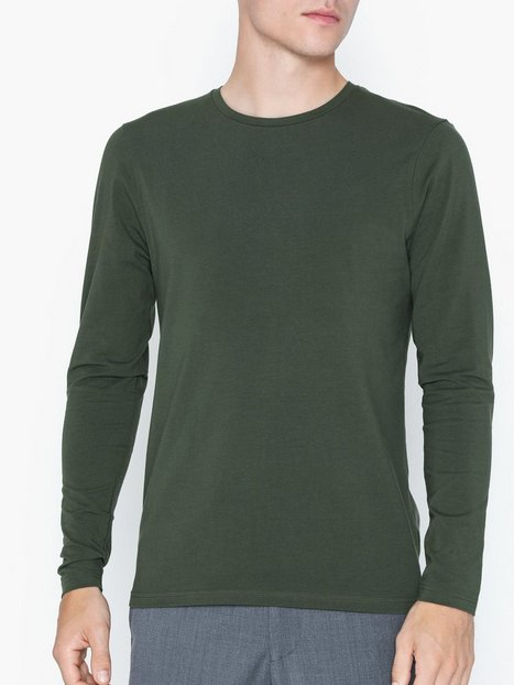 Bread Boxers M's Long Sleeve Crew Neck Trøjer Army Green - herre
