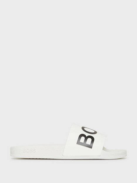 BOSS Bay_Slid_rblg Loafers & slippers White