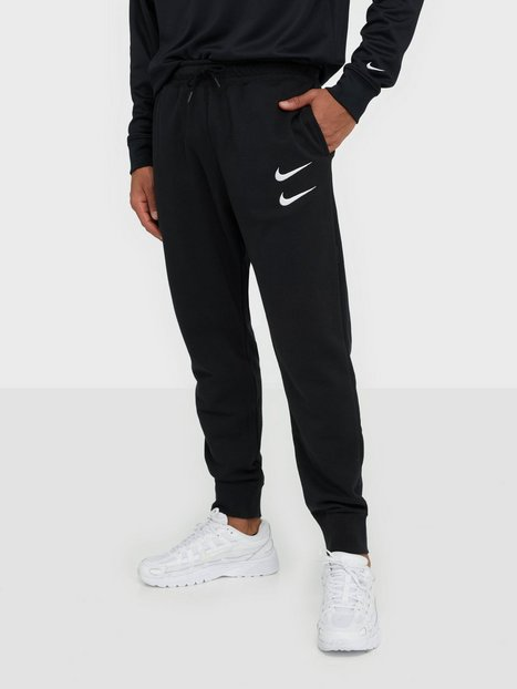Nike Sportswear M Nsw Swoosh Pant Ft Bukser Black White mand køb billigt
