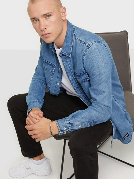 Dr Denim Titus Denim Shirt Skjorter Blue