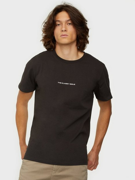 THE CLASSY ISSUE Logo Tee T-shirts & undertrøjer Washed Black
