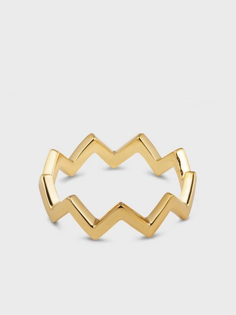 Syster P Strict Plain Zigzag Ring Ringe Guld