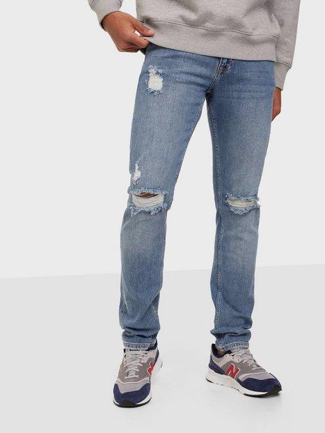 Dr Denim Clark Creek Mid Blue Ripped Jeans Mid Blue