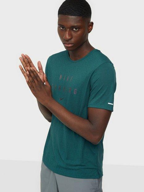 Nike M Nk Rn Dvn Df Miler Top Ss Gx Trænings t-shirts Grøn