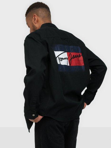 Tommy Hilfiger Tju Faded Flag Overshirt Skjorter Black