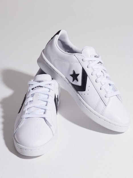 Converse Pro Leather Ox Low Top Hvid/Sort