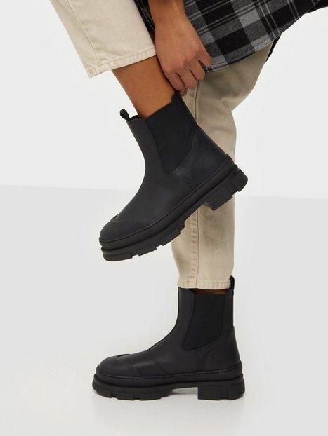 Pavement Wave Flat Boots Sort