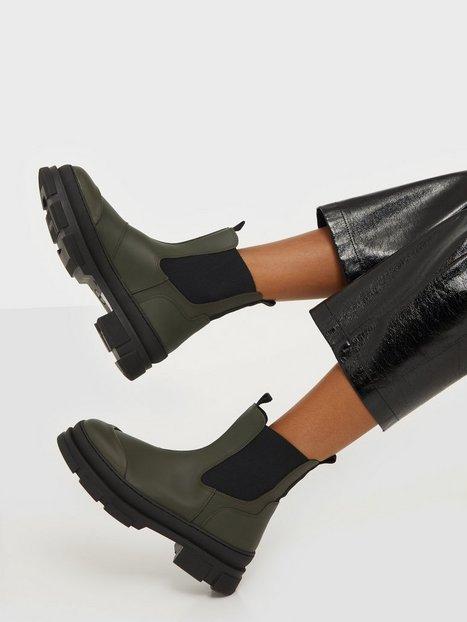 Pavement Wave Flat Boots Grøn