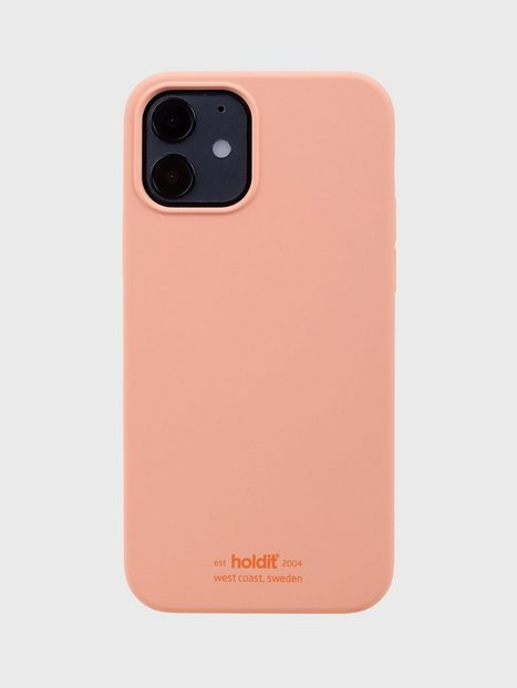Holdit Silicone Case iPhone 12/12Pro Mobilcovere Pink Peach