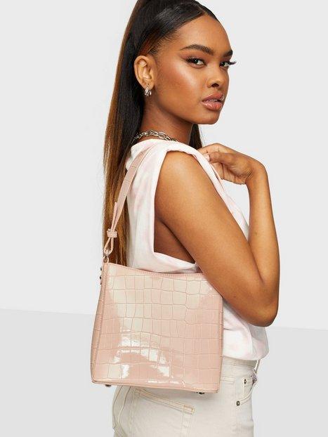 HVISK Amble Croco Small Håndtasker Soft Pink