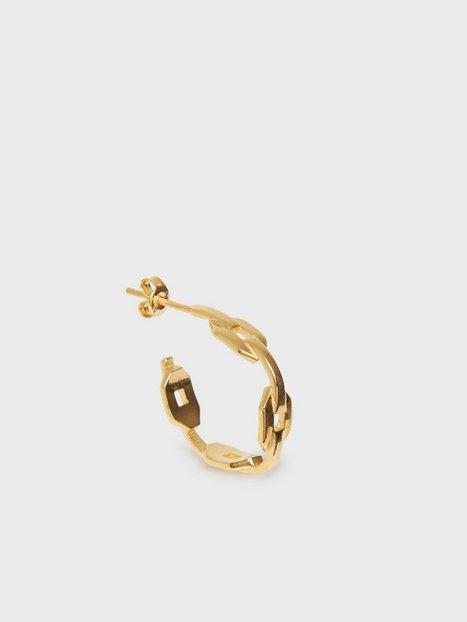 Blue Billie Mini Chain Hoop Øreringe Guld