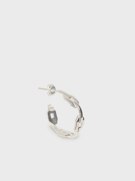 Blue Billie Mini Chain Hoop Smykker Sølv