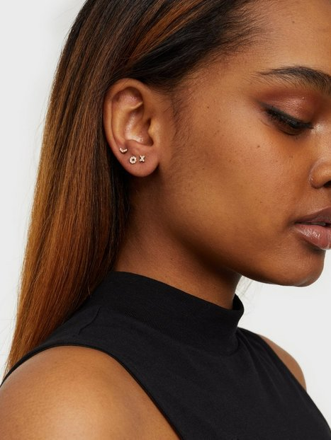 Syster P Mini Earring Collection Hugs and Kisses Smykker Guld