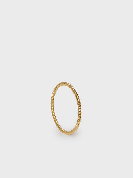 Syster P Tiny Twisted Ring Ringe Guld