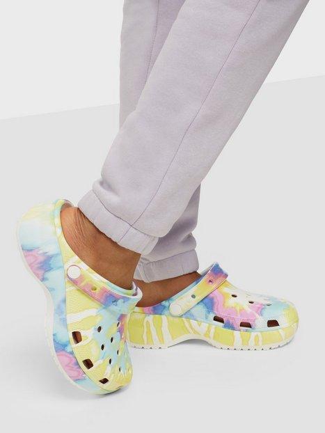Crocs Classic Platform Tie Dye Graph Tøfler