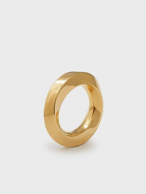 Blue Billie Broad Swirl Ring Ringe