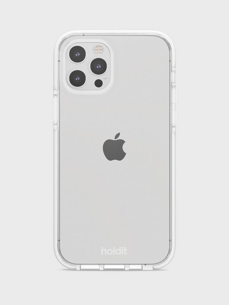 Holdit iPhone 12/12Pro Seethru Case Mobiltilbehør White