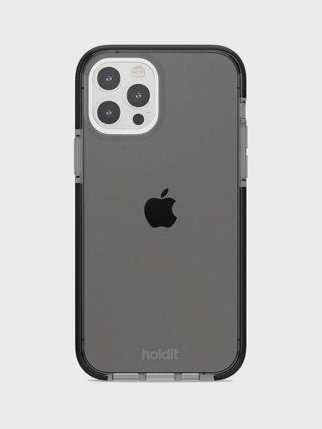 Holdit iPhone 12/12Pro Seethru Case Mobilcovere Black