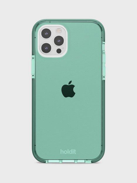 Holdit iPhone 12/12Pro Seethru Case Mobiltilbehør Green