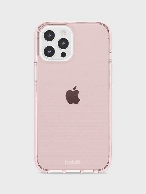 Holdit iPhone 12 Pro Max Seethru Case Mobilcovere Pink