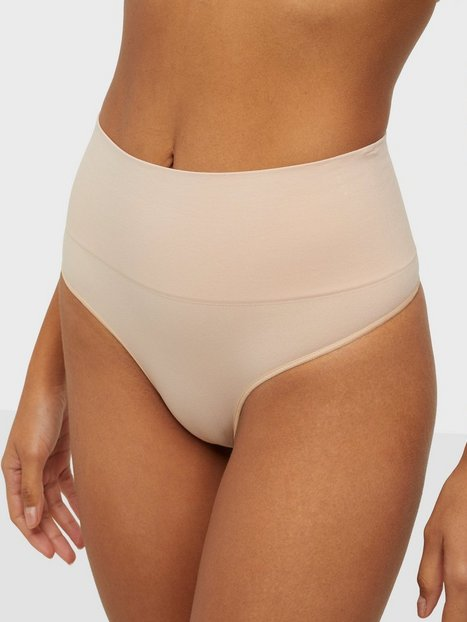 Spanx Everyday Shaping Panties Thong Shaping & Support Nude