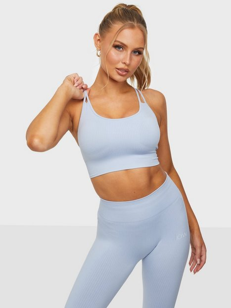 ICANIWILL Ribbed Define Seamless Sports Bra Sports-BH light support Cloudy Blue