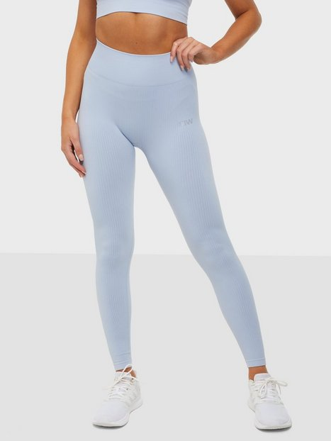 ICANIWILL Ribbed Define Seamless Tights Træningstights Cloudy Blue