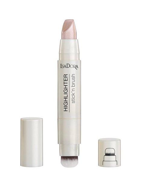 Isadora Highlighter Stick'n Brush Highlighter Pink Pearl