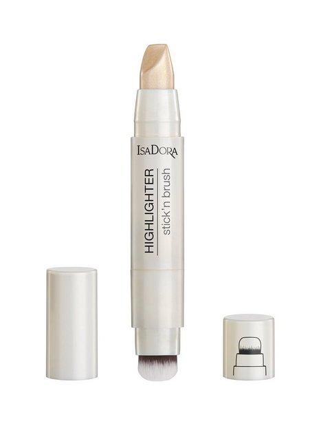 Isadora Highlighter Stick'n Brush Highlighter Sparkling Beige