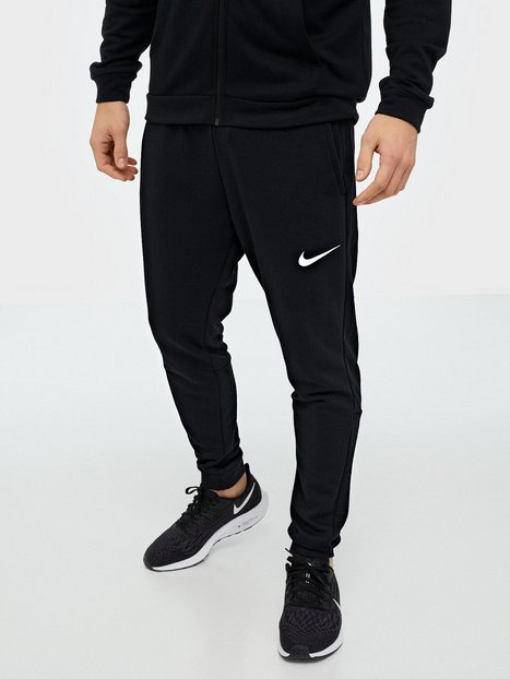 Nike M Nk Dry Pant Taper Fleece Træningsbukser Sort/Hvid