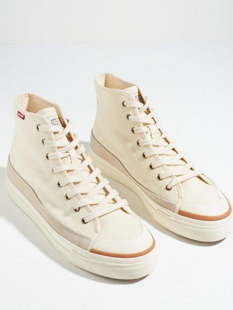 Levis Square High Sneakers Ecru