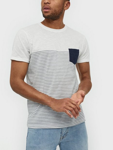 Solid Hal Stripe SS T Shirt T shirts undertrøjer Insignia Blue - herre
