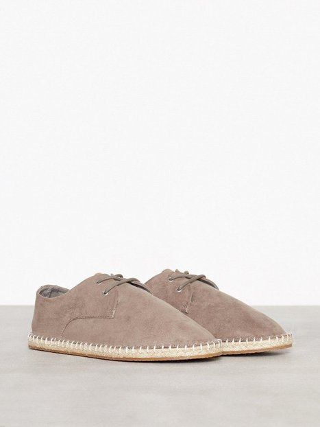 River Island Lace Up Espadrille Loafers slippers Grey - herre