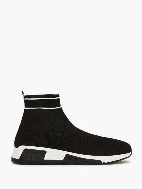River Island Sock Runner High Sneakers Black - herre