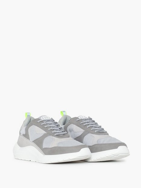 River Island Chunky Sole Runner Sneakers Grey mand køb billigt