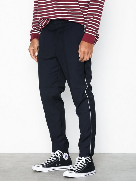 New Look Half Elastic Trouser W Piping Bukser Navy - herre