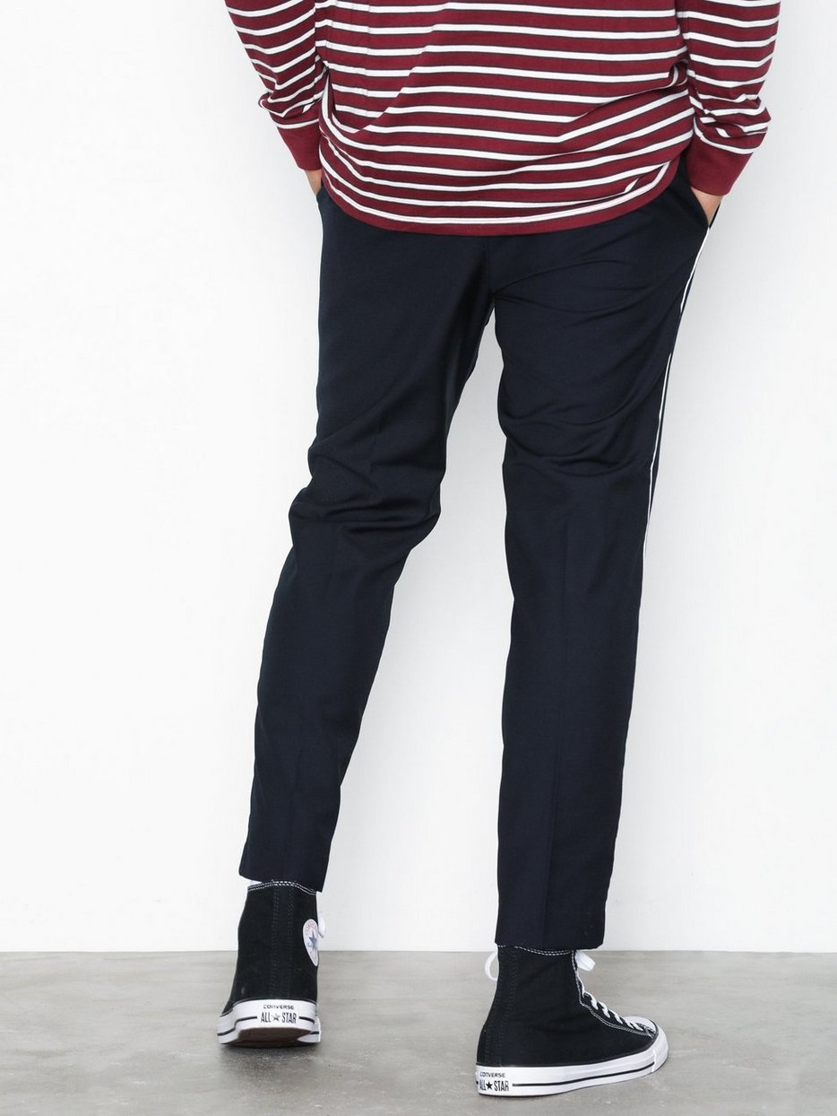 HALF ELASTIC TROUSER W PIPING