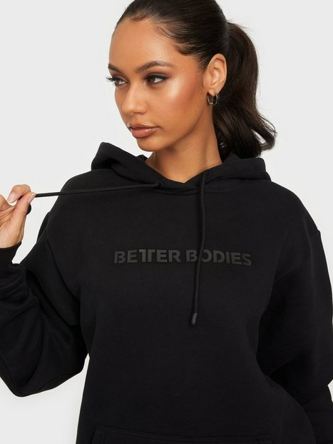 Better Bodies Logo Hoodie Træningstrøjer Black