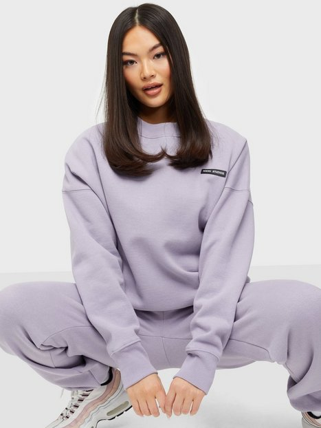 Nicki Studios Logo Collage Crewneck Sweatshirts Violet