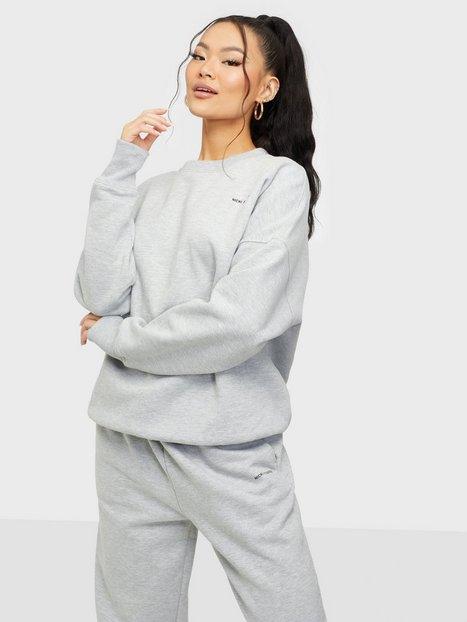Nicki Studios Logo Collage Crewneck Sweatshirts Grey Melange