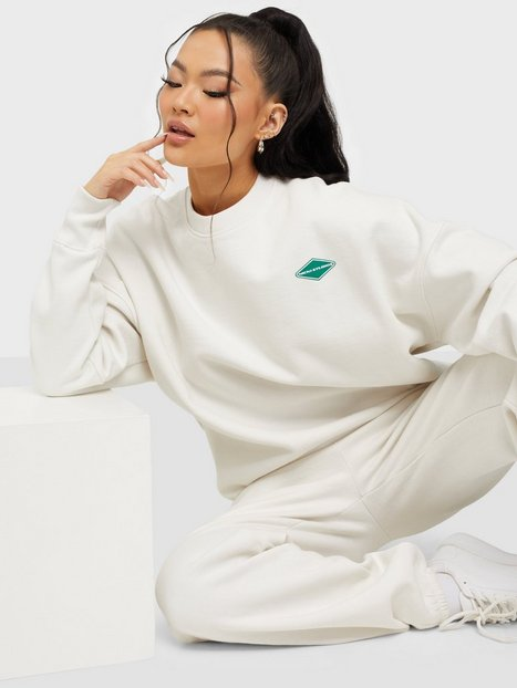 Nicki Studios Logo Collage Crewneck Sweatshirts Salt