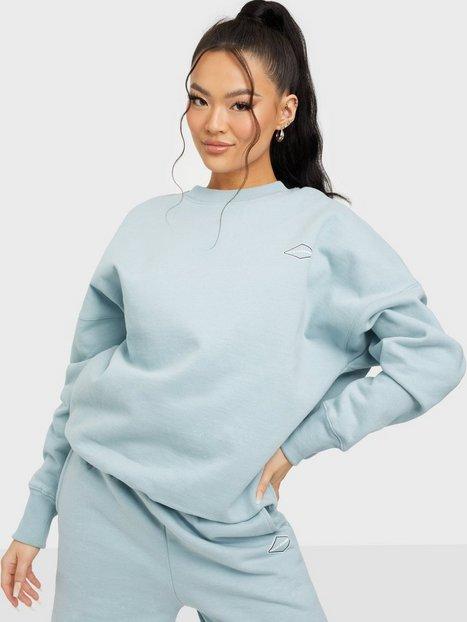 Nicki Studios Logo Collage Crewneck Sweatshirts Glory Blue