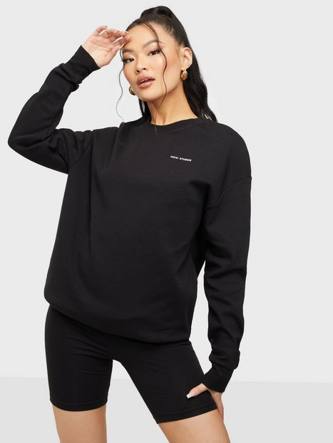 Nicki Studios Logo Cotton Long Sleeve Langærmede toppe Black