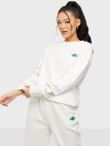 Nicki Studios Logo Cotton Long Sleeve Langærmede toppe Salt