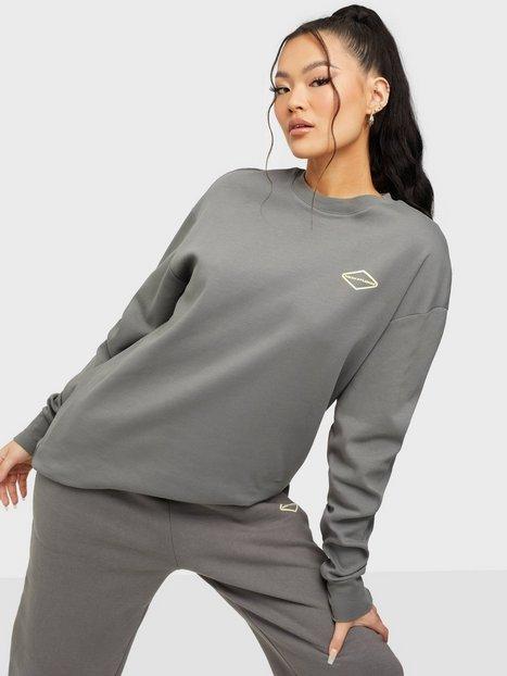 Nicki Studios Logo Cotton Long Sleeve Langærmede toppe Shadow Gray