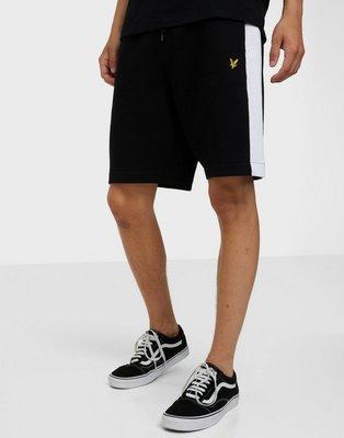 Lyle & Scott Side Stripe Sweat Short Shorts Jet Black
