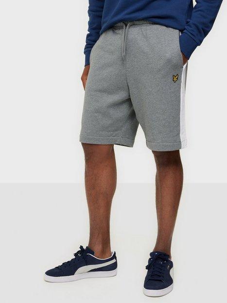 Lyle & Scott Side Stripe Sweat Short Shorts Grey Marl