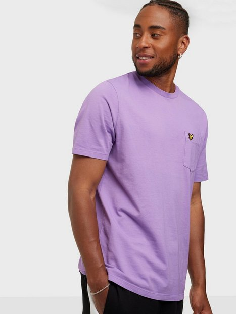 Lyle & Scott Washed Relaxed Pocket T-shirt T-shirts & undertrøjer Amethyst